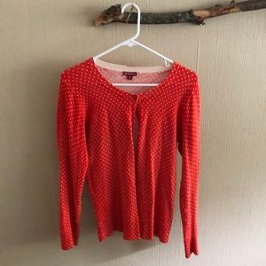 Merona Red Polka Dot Cardigan